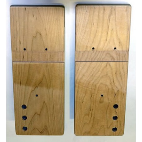 Concept 2 model B rowing machine RIGHT & LEFT wooden foot board (foot plate / foot rest) pair
