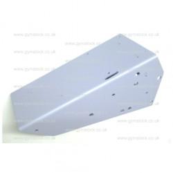 Concept 2 model D rower LEFT foot bracket (plate / rest) blue
